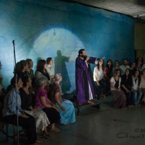 Sreejit as preacher