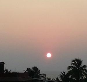Setting sun