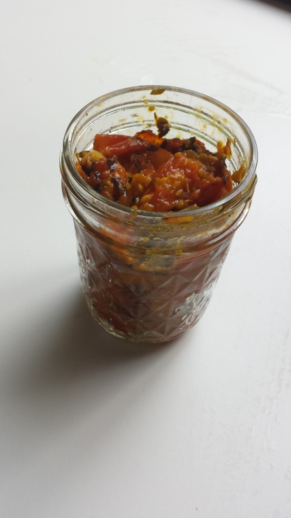 Keep what I need for soup and put the rest in a jar to freeze