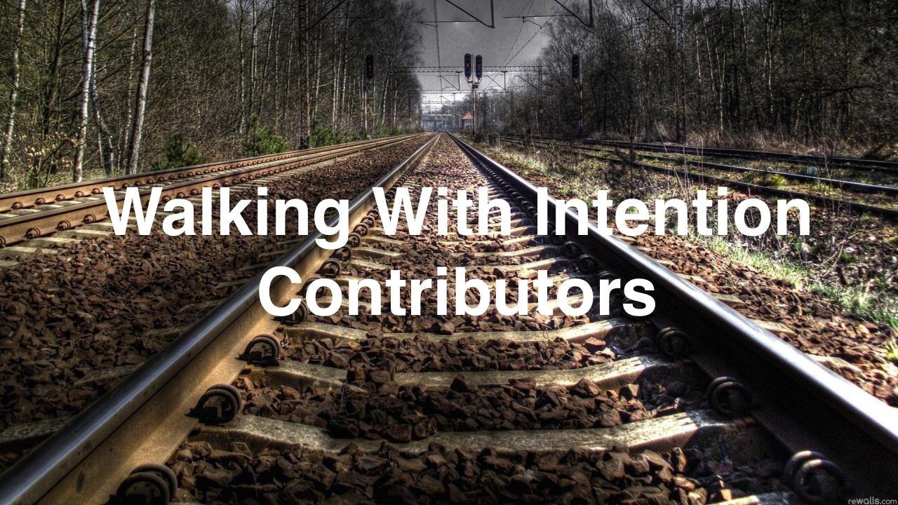 Walking with Intention Contributors