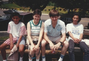 Chai, Cindy, Bill, and Sreejit in the late 80's
